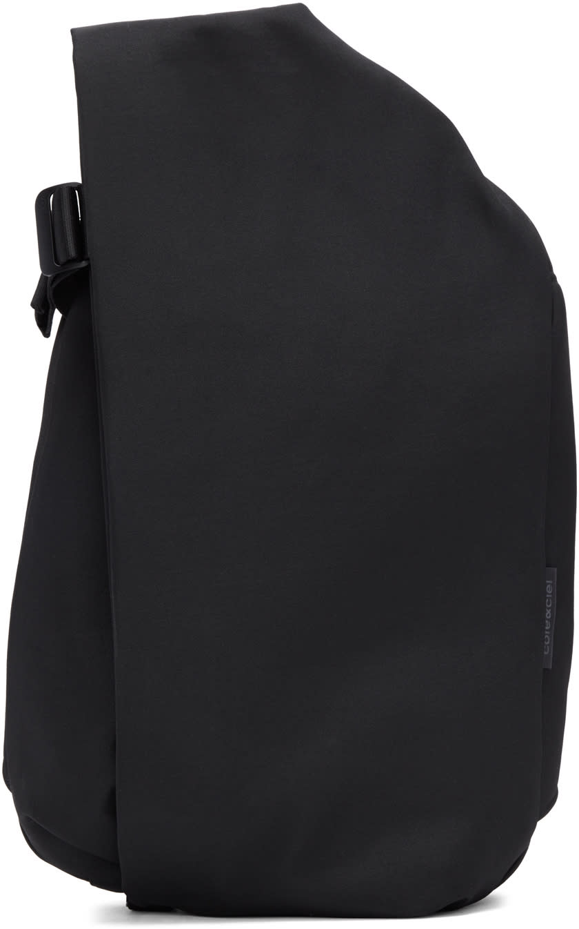 Image of Côte and Ciel Black Medium Isar Eco Yarn Backpack