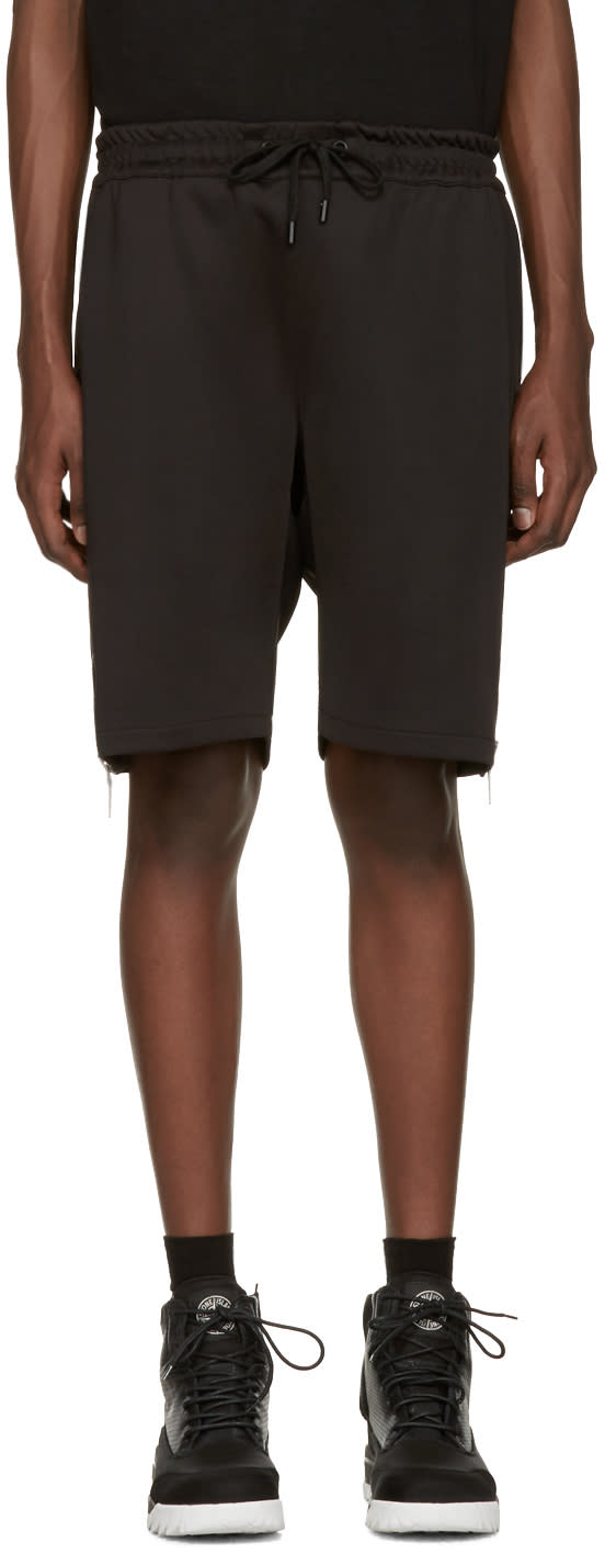 Image of Pyer Moss Black Evans Zip Shorts