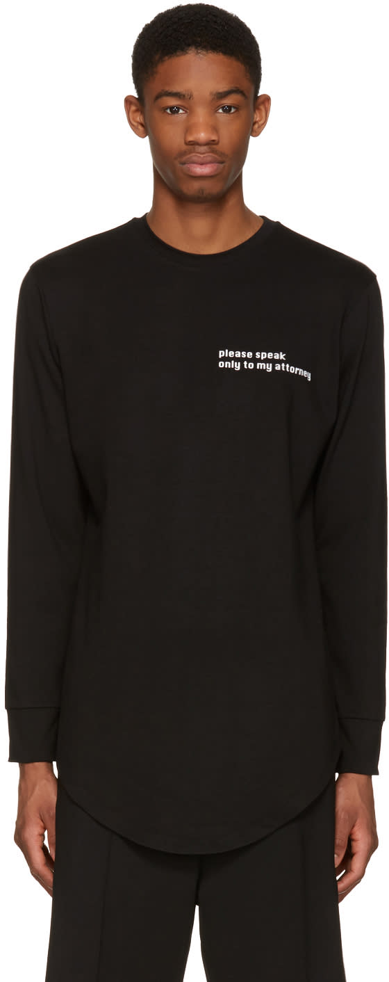 Image of Pyer Moss Black attorney T-shirt