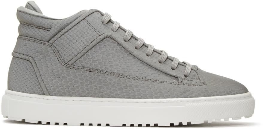 Etq Amsterdam Grey Reflective Python Mid 2 Sneakers