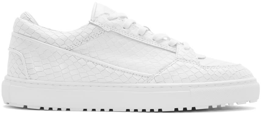 Etq Amsterdam White Python Low 3 Sneakers