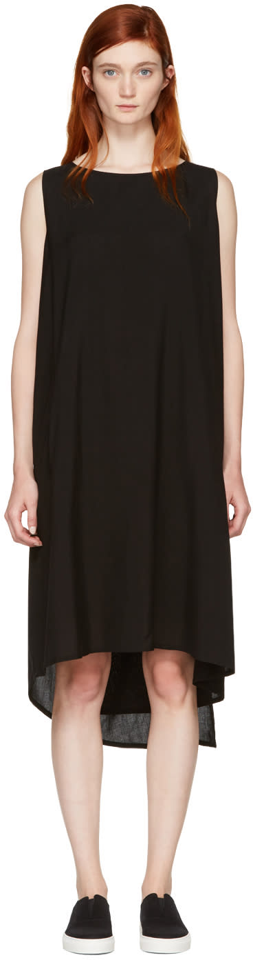 Yohji Yamamoto Black Hard Twist Dress