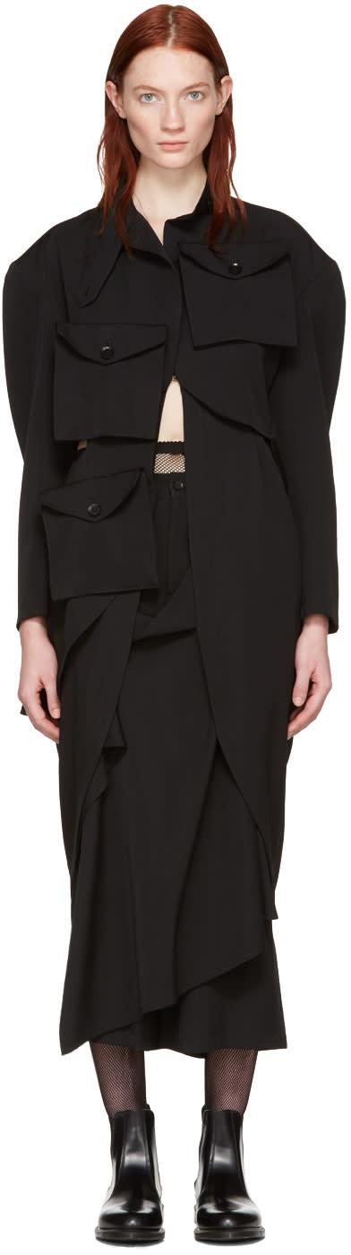 Yohji Yamamoto Black Multipocket Jacket