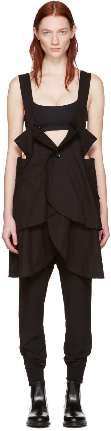 Yohji Yamamoto Black Button Down Camisole