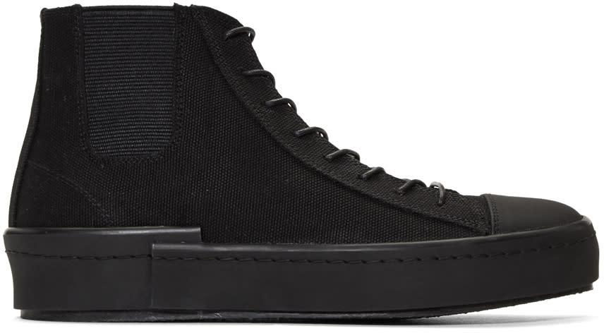 Yohji Yamamoto Black Gore High-top Sneakers