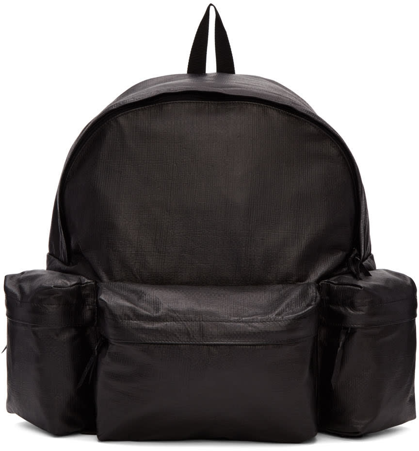 Yohji Yamamoto Black Leather Backpack