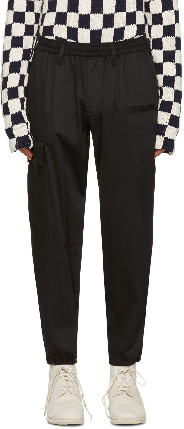 Yohji Yamamoto Black Classic Jogging Pants