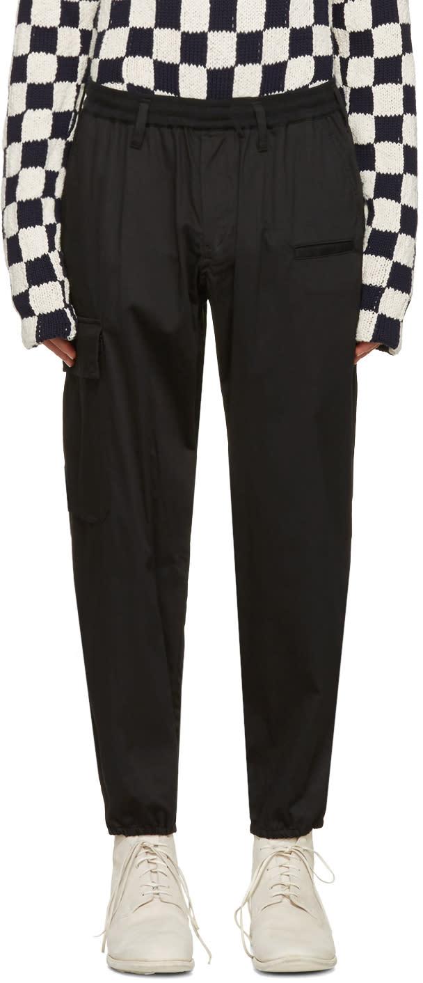 Yohji Yamamoto ブラック クラシック ジョギング パンツ