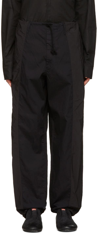 Yohji Yamamoto Black Drawstring Trousers