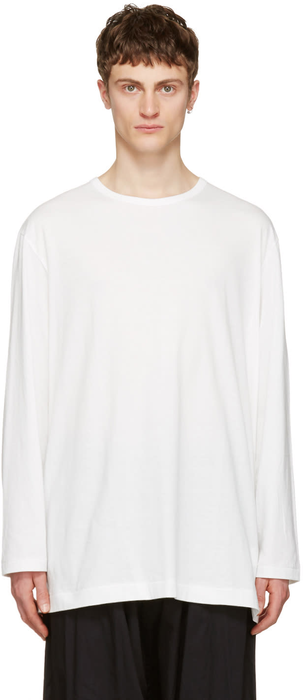 Yohji Yamamoto Off-white Back Logo T-shirt
