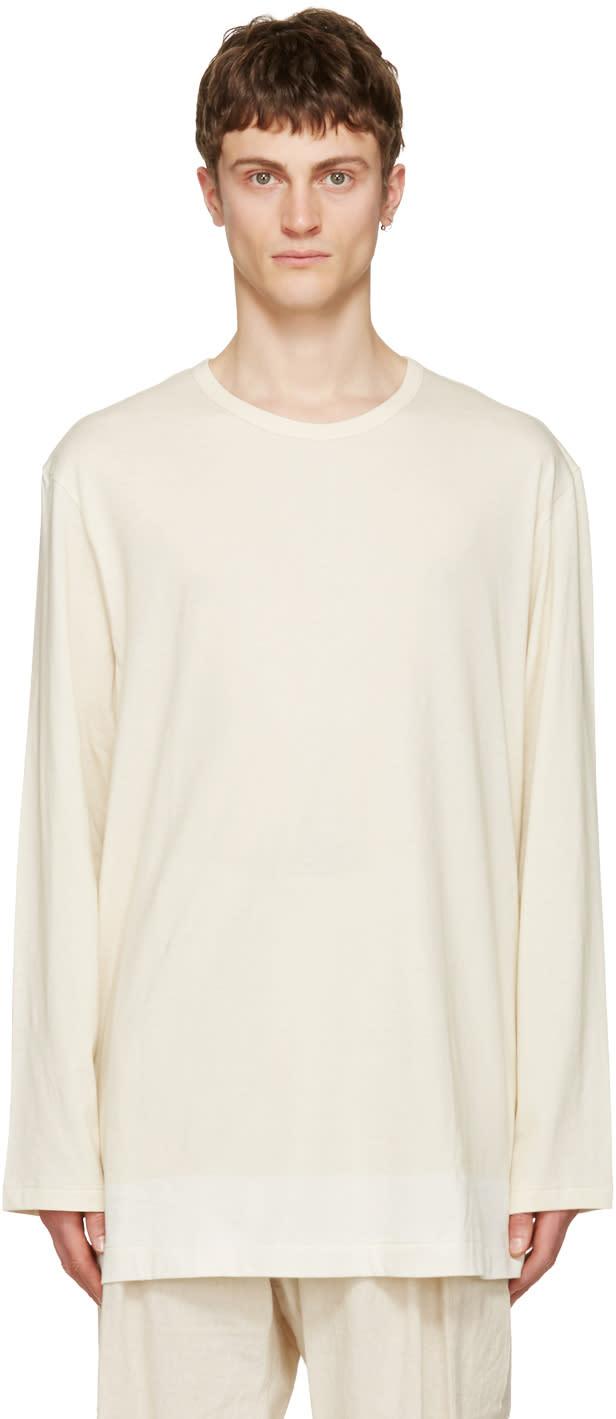 Yohji Yamamoto Beige i Am A Slump T-shirt