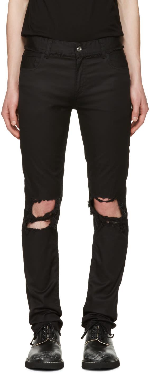 Image of Christian Dada Black Signature Super Skinny Knee Trousers
