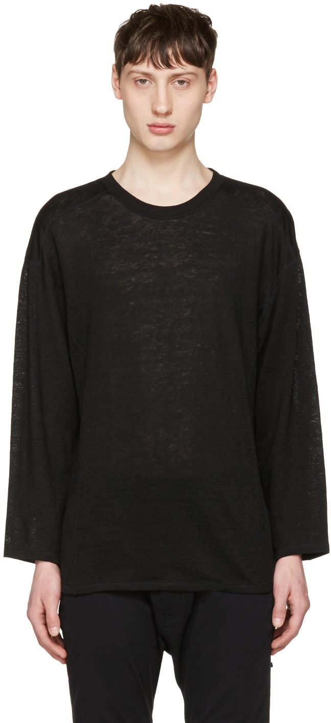 Image of Christian Dada Black Linen Pullover