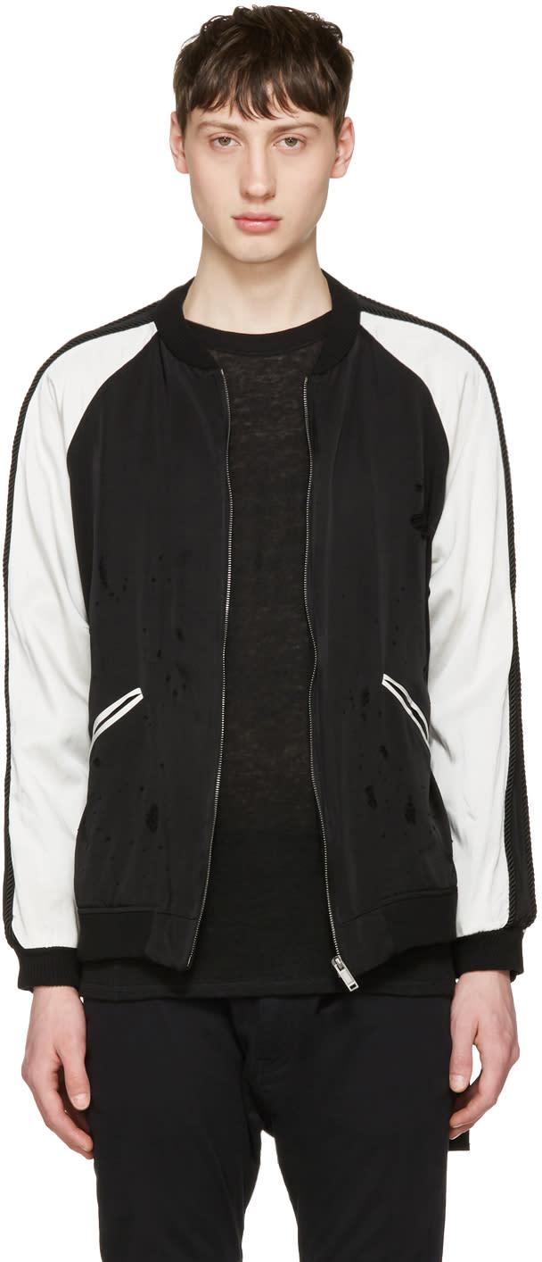 Image of Christian Dada Black Damaged Souvenir Jacket