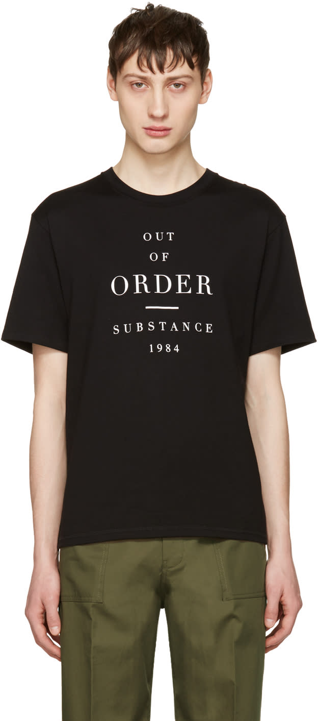 Image of Christian Dada Black out Of Order T-shirt