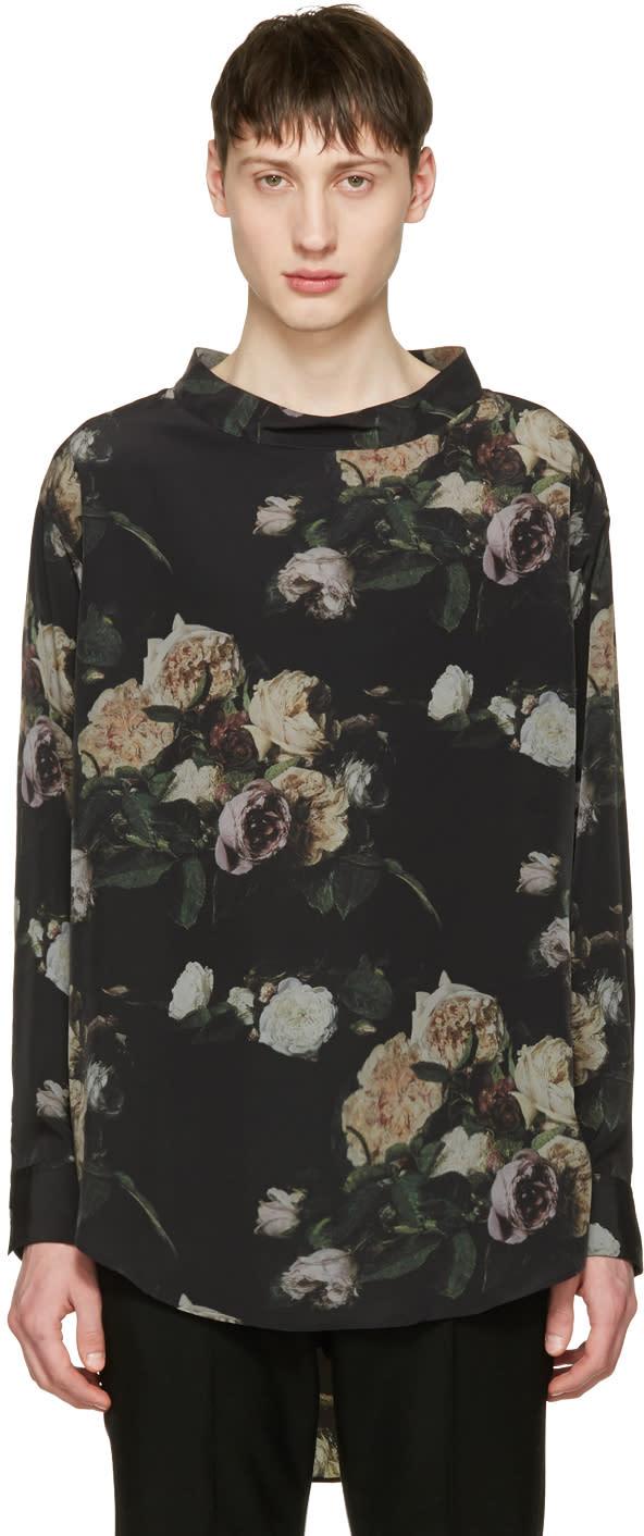 Lad Musician Black Inkjet Flower Pullover