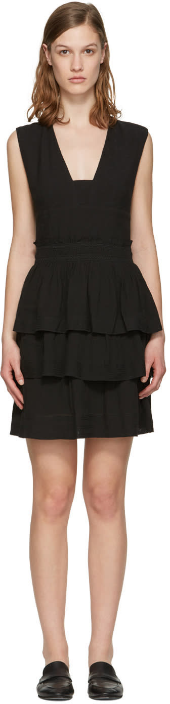 Isabel Marant Etoile Black Kali Flounce Dress