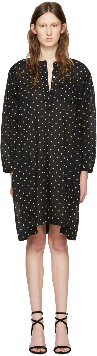 Isabel Marant Etoile Black Polka Dot Makya Dress