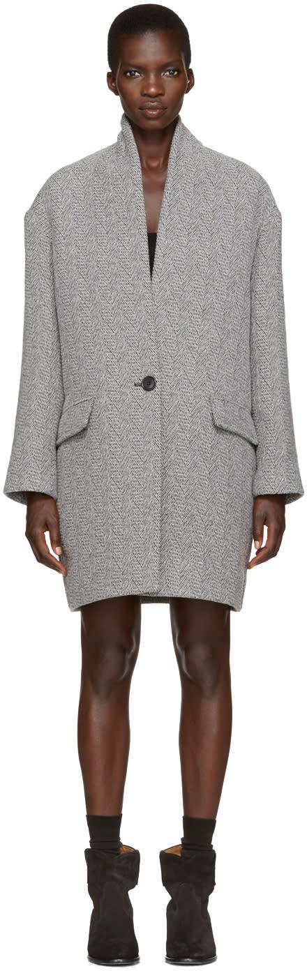 Isabel Marant Etoile Grey Edilon Coat
