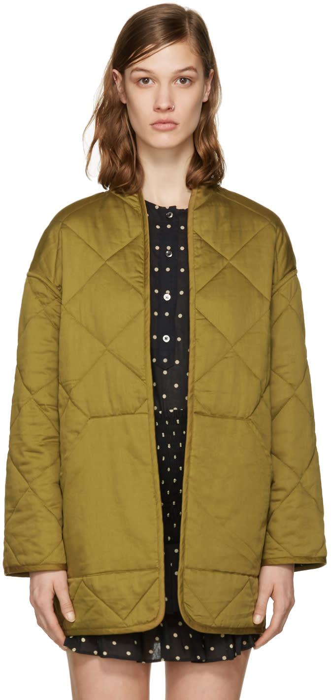 Isabel Marant Etoile Reversible Black Daca Quilted Jacket