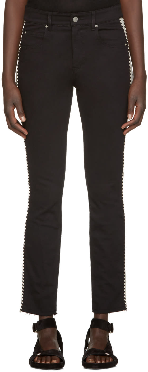 Isabel Marant Etoile Black Two-tone Haven Jeans