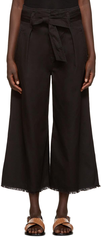 Isabel Marant Etoile Black Odea Bow Culottes