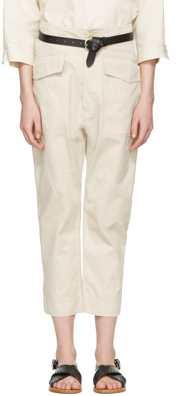 Isabel Marant Etoile Ecru Oaklyn Pockets Trousers