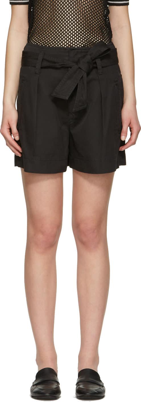 Isabel Marant Etoile Black Oscar Bow Shorts