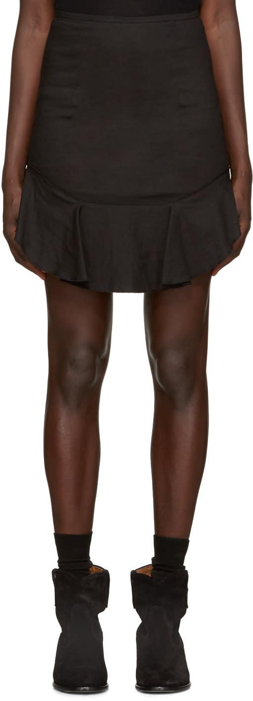 Isabel Marant Etoile Black New Ruffle Miniskirt