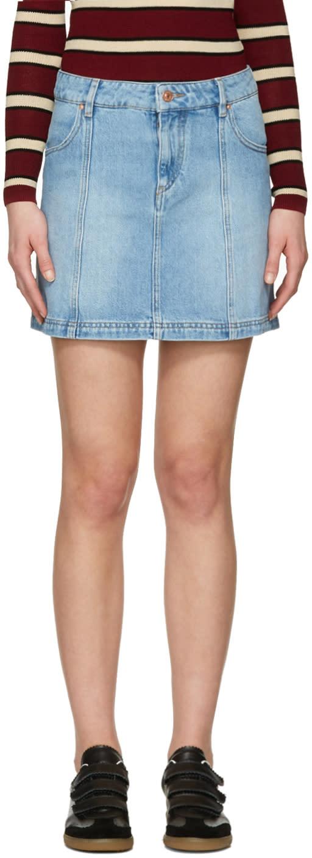 Isabel Marant Etoile Blue Denim Candice Miniskirt