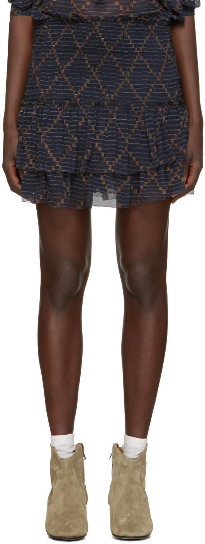 Isabel Marant Etoile Navy Brinley Miniskirt