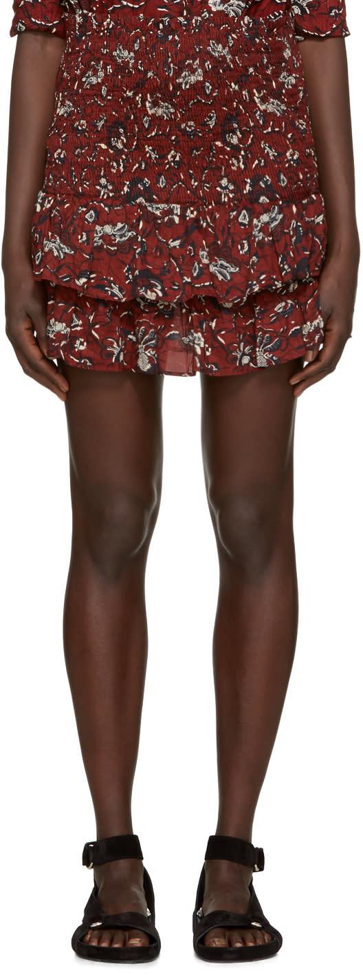 Isabel Marant Etoile Burgundy Alfos Miniskirt