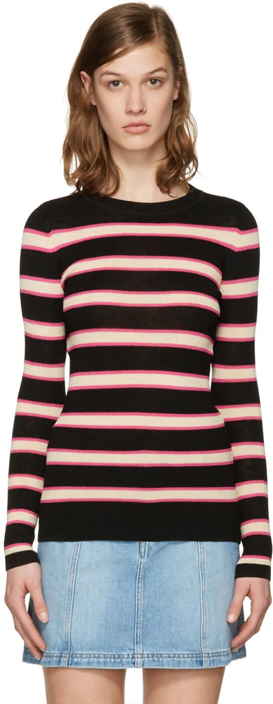 Isabel Marant Etoile Black Striped Derring Pullover