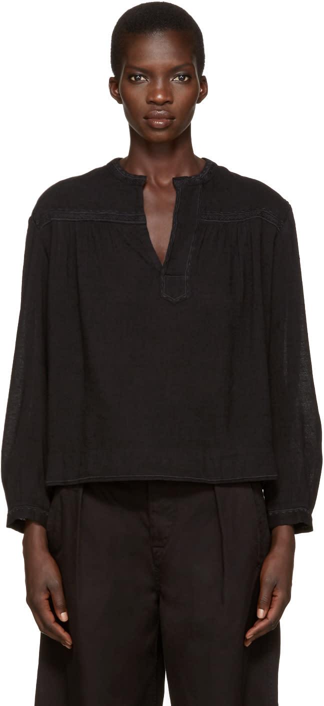 Isabel Marant Etoile Black Alican Blouse