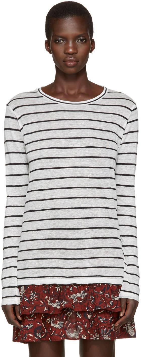 Isabel Marant Etoile Off-white Striped Aaron T-shirt