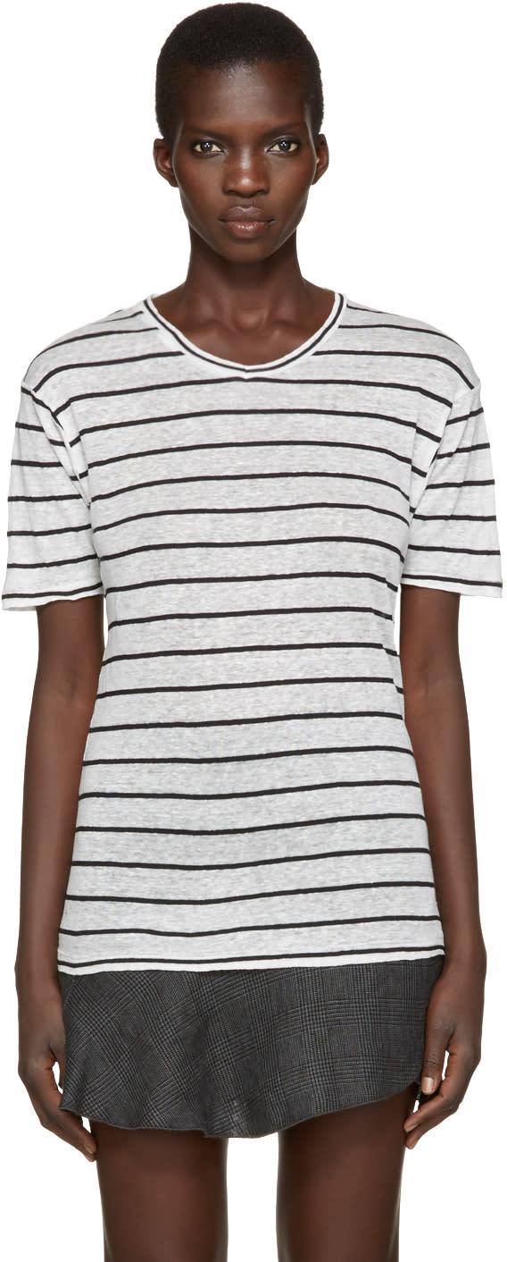 Isabel Marant Etoile Off-white Striped Andreia T-shirt