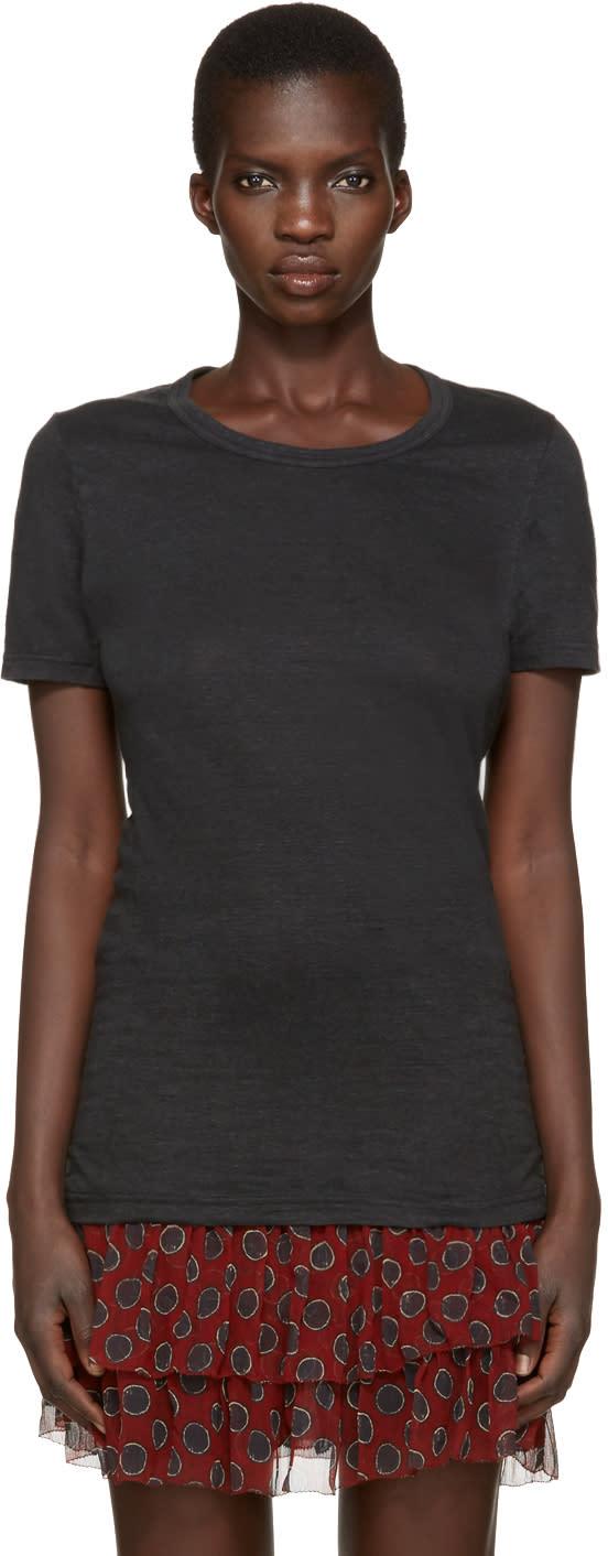 Isabel Marant Etoile Black Linen Kiliann T-shirt