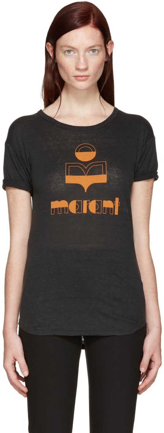 Isabel Marant Etoile Black Kolda Logo T-shirt