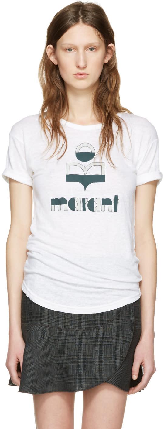 Isabel Marant Etoile White Kolda Logo T-shirt