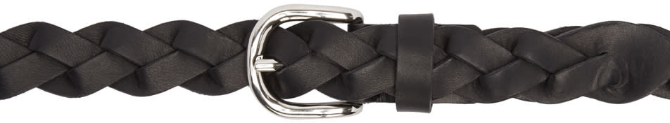 Isabel Marant Black Braided Dirk Belt