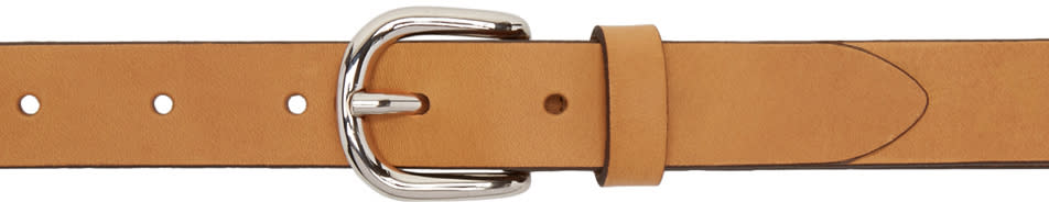 Isabel Marant Tan Leather Zap Belt