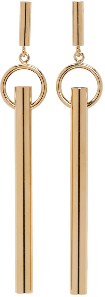 Isabel Marant Gold Tube Earrings