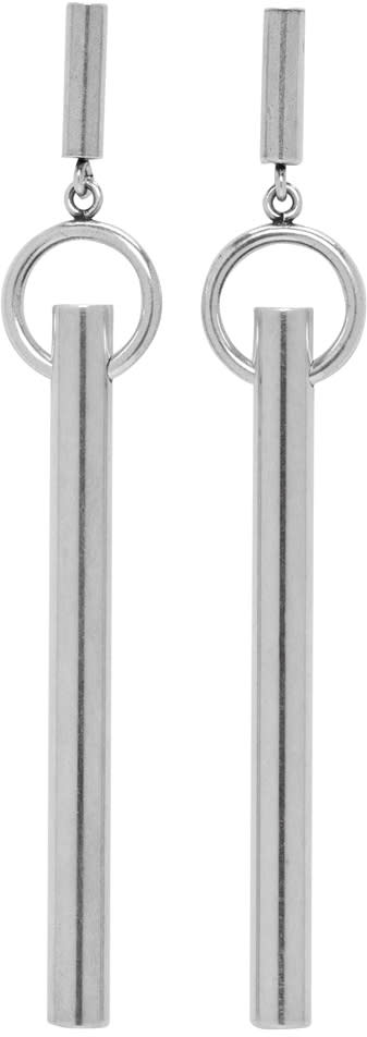 Isabel Marant Silver Tube Earrings