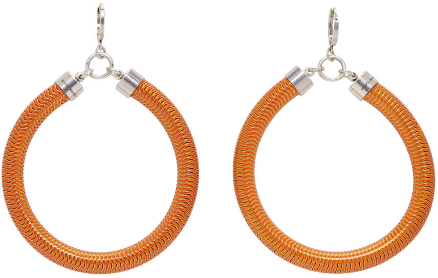 Isabel Marant Orange Tube Earrings