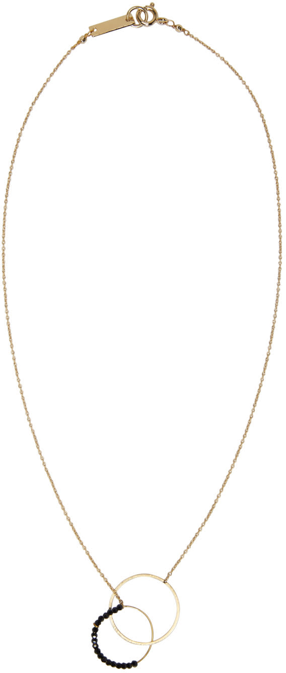 Isabel Marant Gold Hotel Excelsior Two Circles Necklace