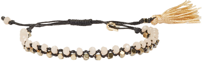 Isabel Marant Black Beaded Kaya Bracelet