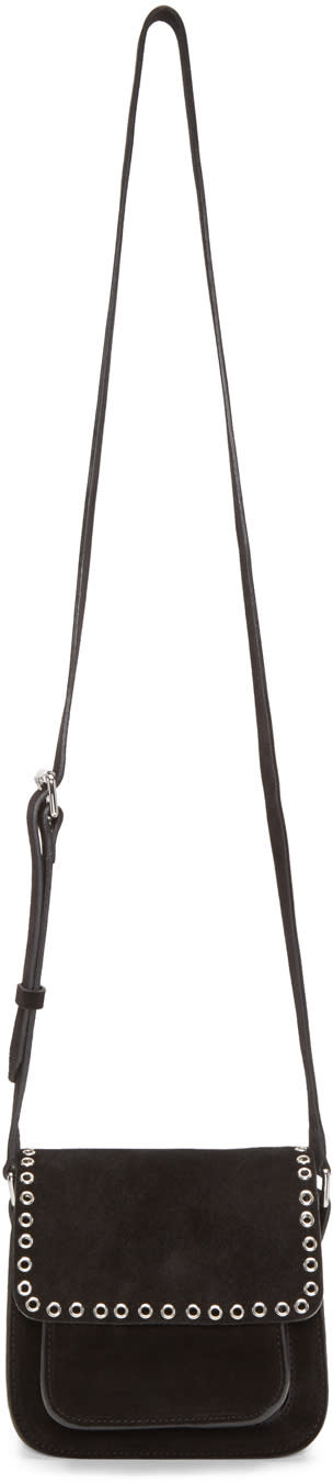 Isabel Marant Black Suede Small Marfa Bag