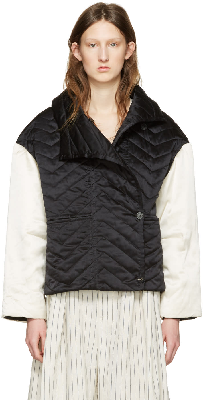 Isabel Marant Black and White Quilted Hector Jacket