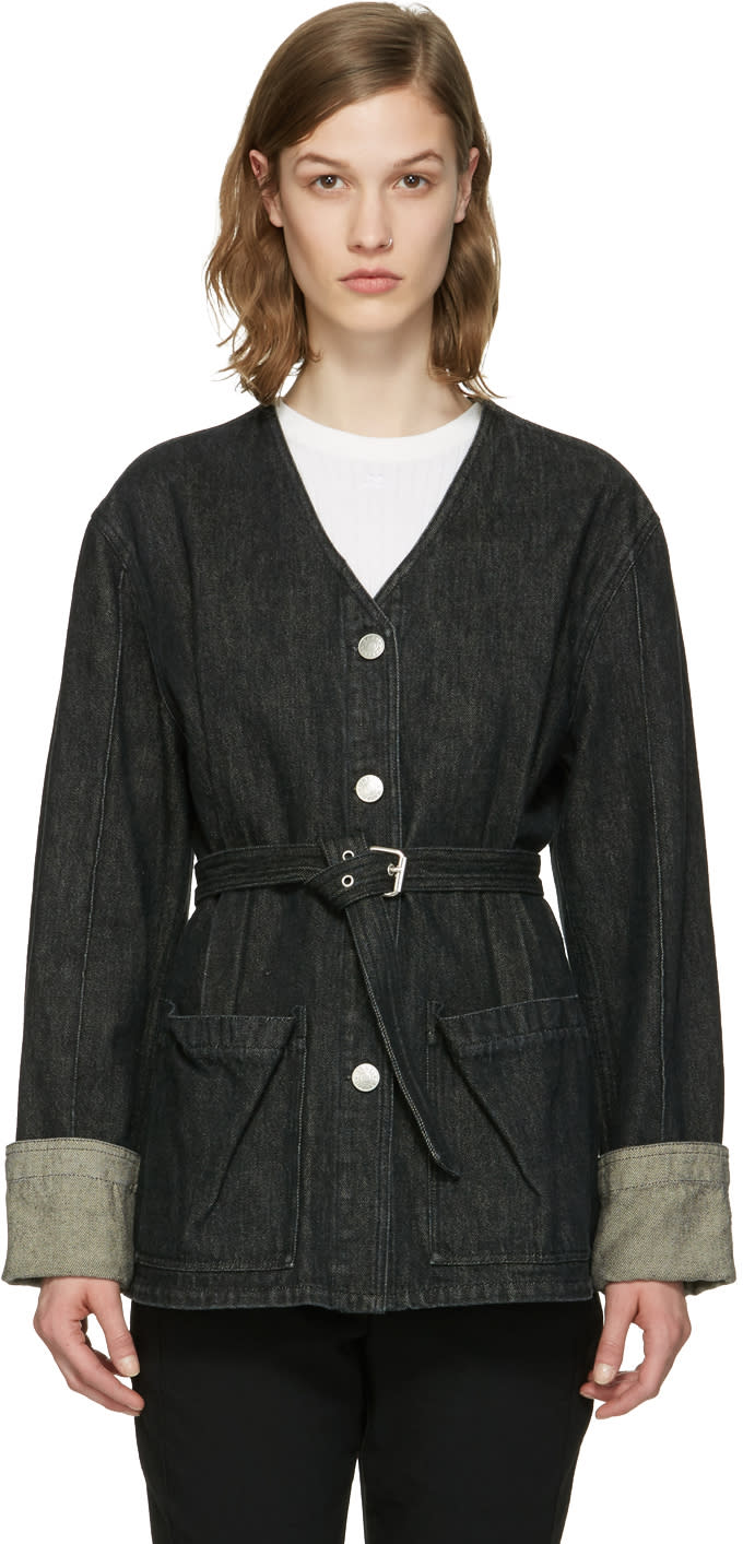 Isabel Marant Black Denim Estil Jacket