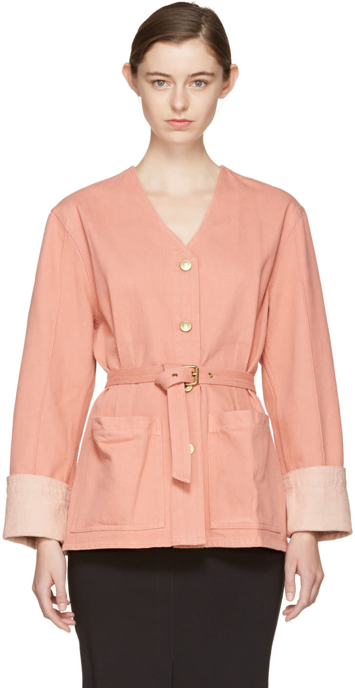 Isabel Marant Pink Denim Estil Jacket